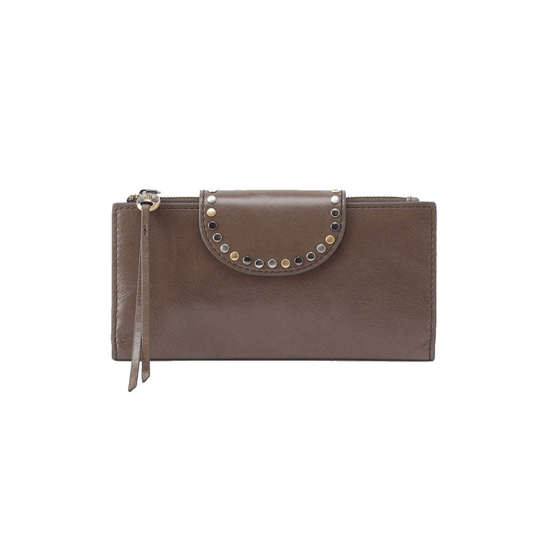 Hobo Elsa Continental Wallet in Shaddow