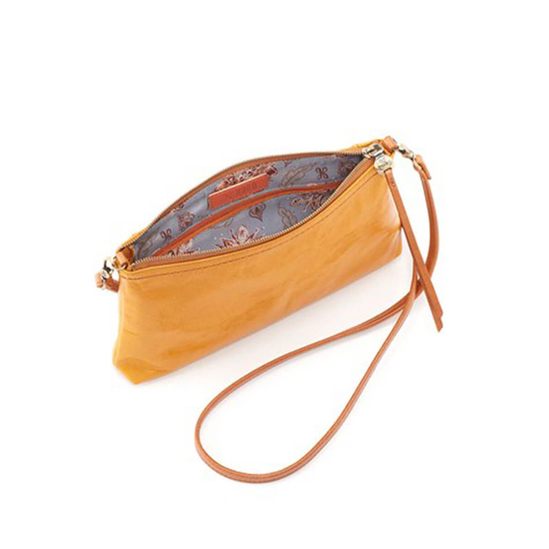 Hobo Darcy Convertible Crossbody Clutch in Amber