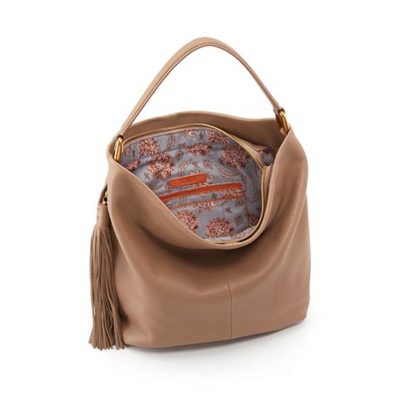 Hobo Meridian Velvet Hide Purse in Mushroom Color