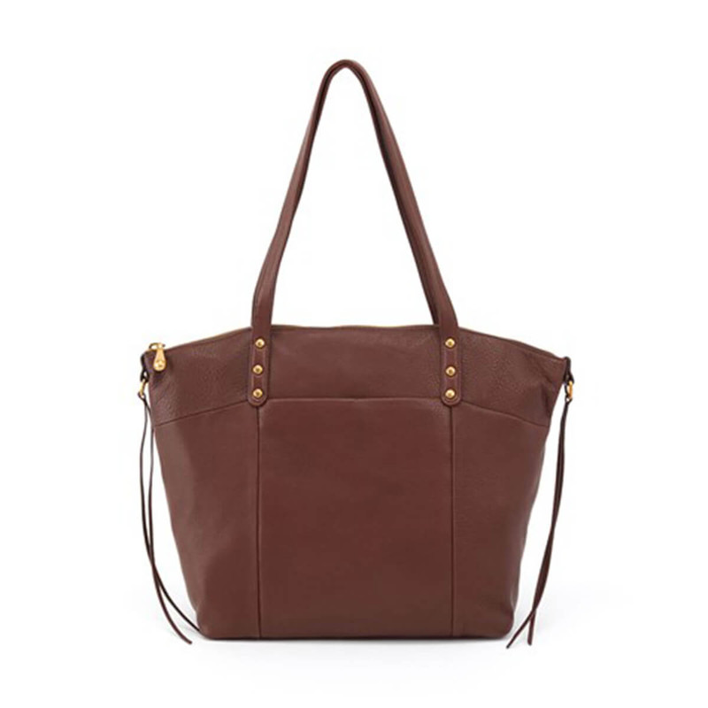Hobo Dustin Leather Tote in Walnut Color