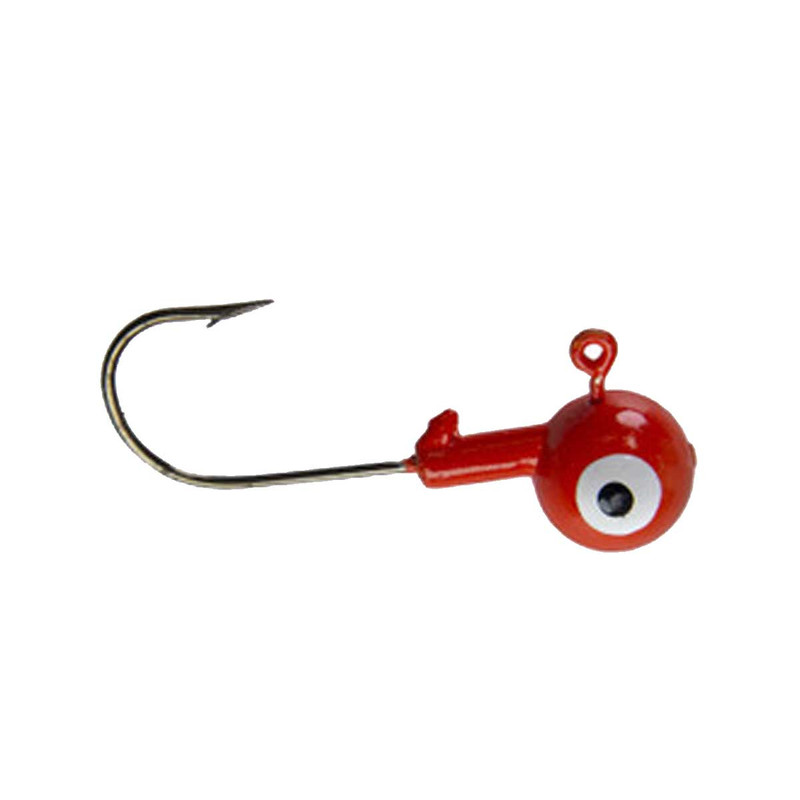 Head Hunter Painted Crappie Jigheads - 1/16 oz in Red Color