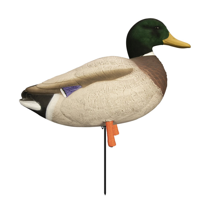 Higdon Full-Body Magnum Mallard Duck Decoys with Flocked Heads Variety 6 Pack