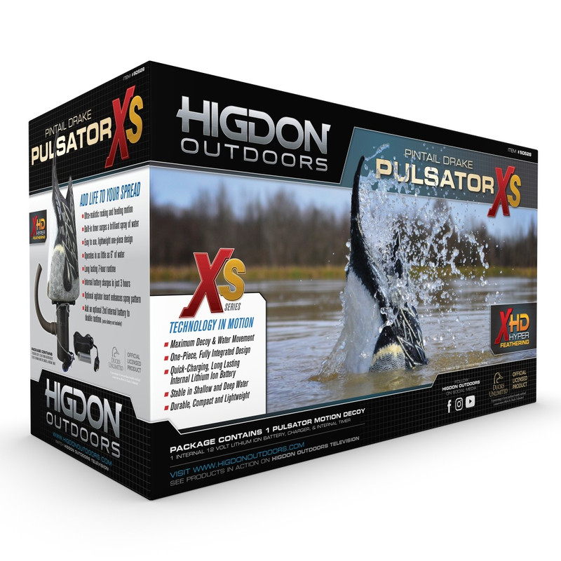 Higdon XS Pulsator Pintail Motion Duck Decoy - 12v
