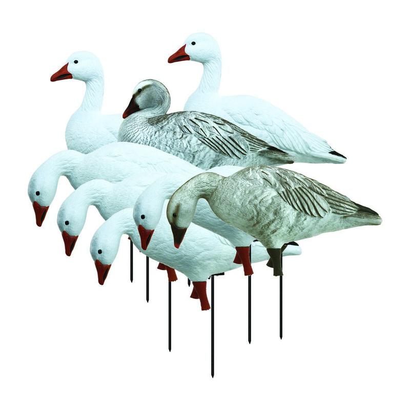 Higdon Full Body Snow/Juvenile Goose Decoys - Variety 8 Pk