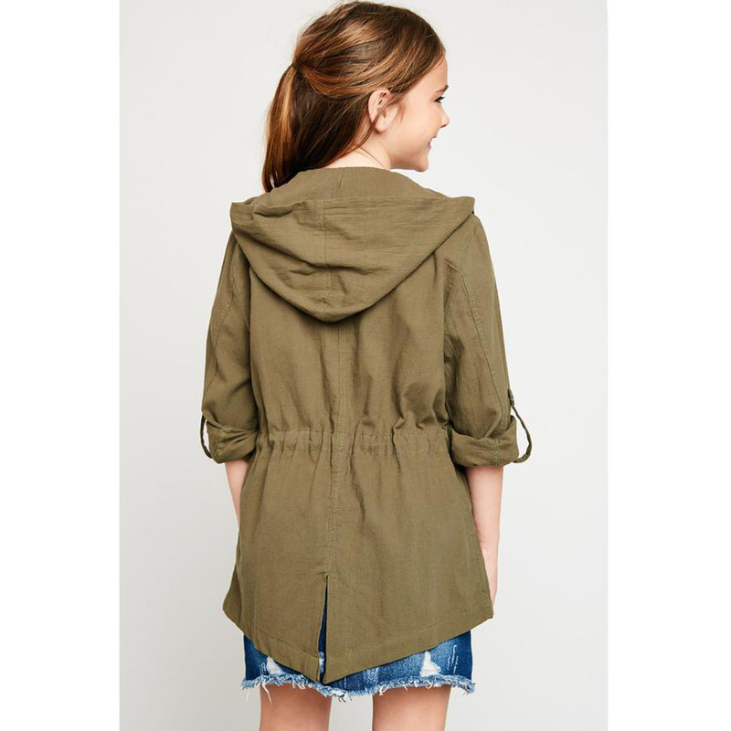 Hayden Cargo Jacket in Army Color
