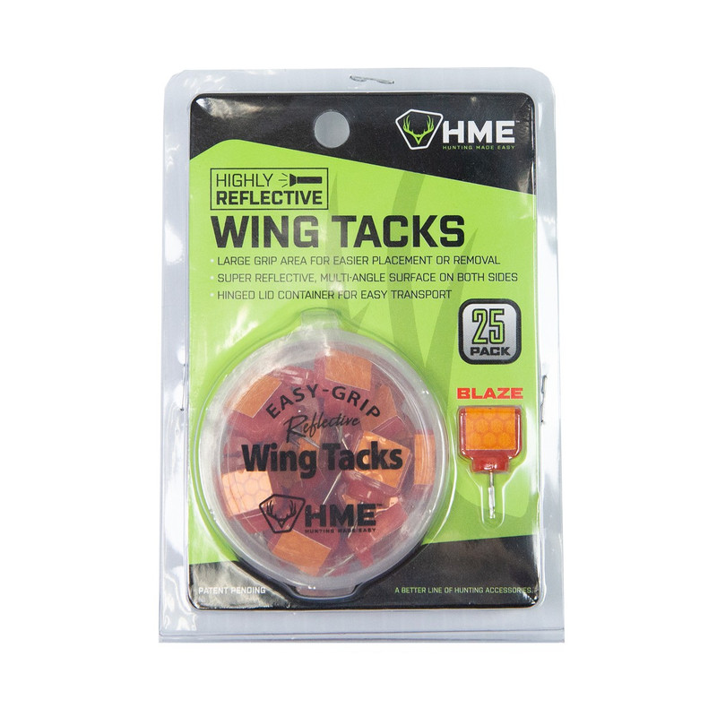 HME Reflective Wing Tack 25pk Orange