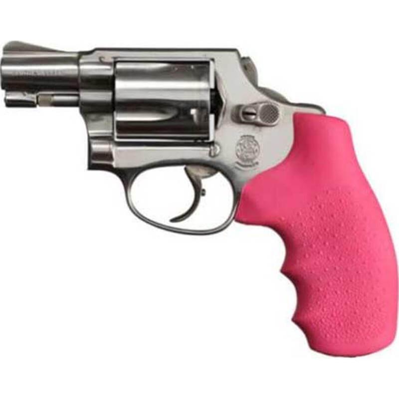 Hogue Handles S&W J Frame Round Butt Pink Handgun Rubber Monogrip