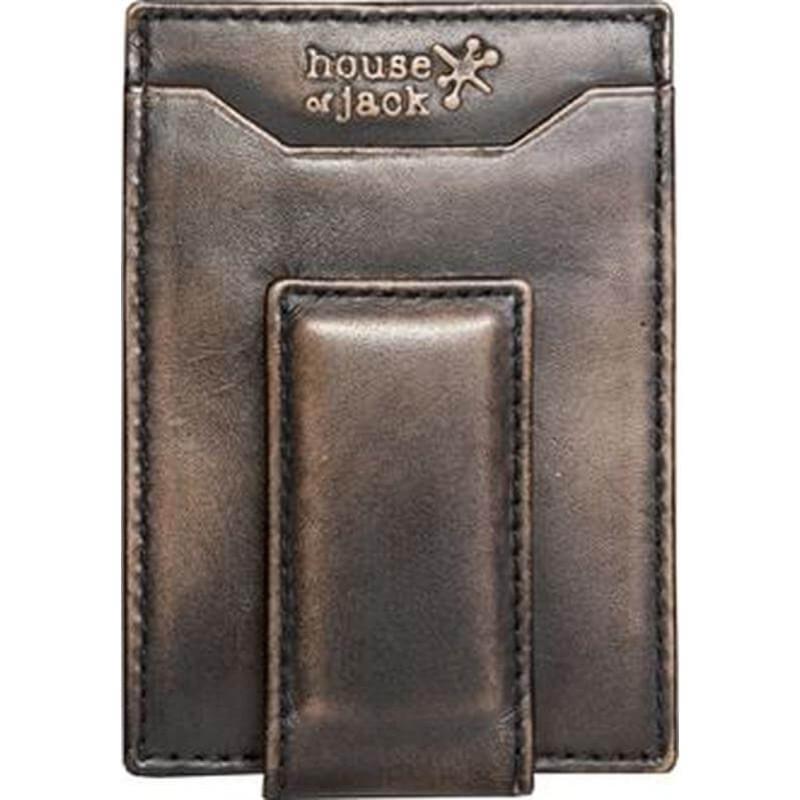 House of Jack Deer Magnetic Multicard Front Pocket Wallet - Black