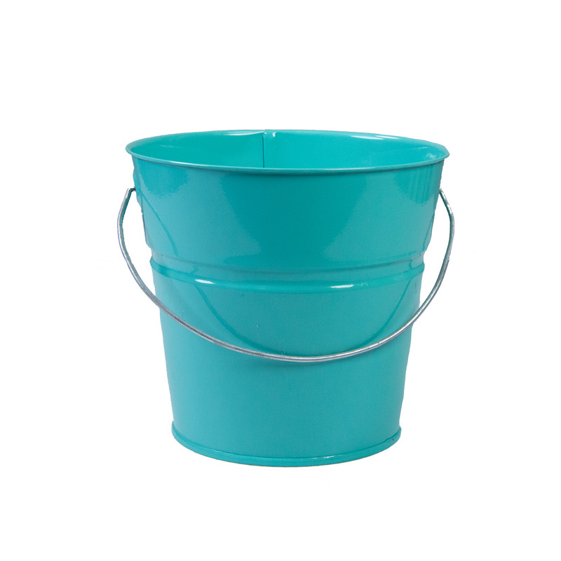 Holiday Tins 2 QT. Powder Coat Bucket in Blue Color