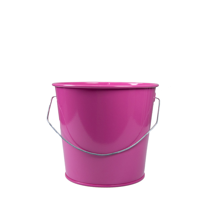 Holiday Tins 2 QT. Powder Coat Bucket in Pink