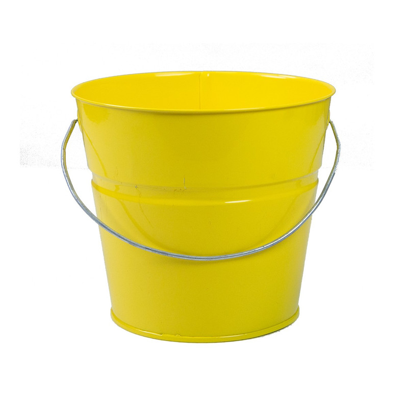 Holiday Tins 2 QT. Powder Coat Bucket in Sunshine Yellow