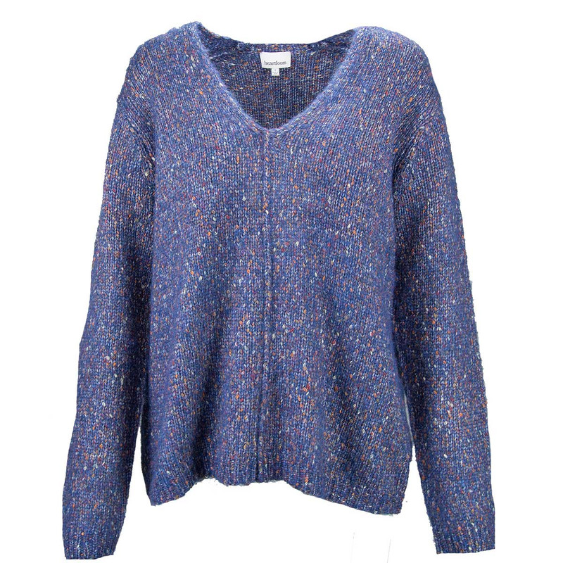 Heartloom Ace Sweater in Navy Color
