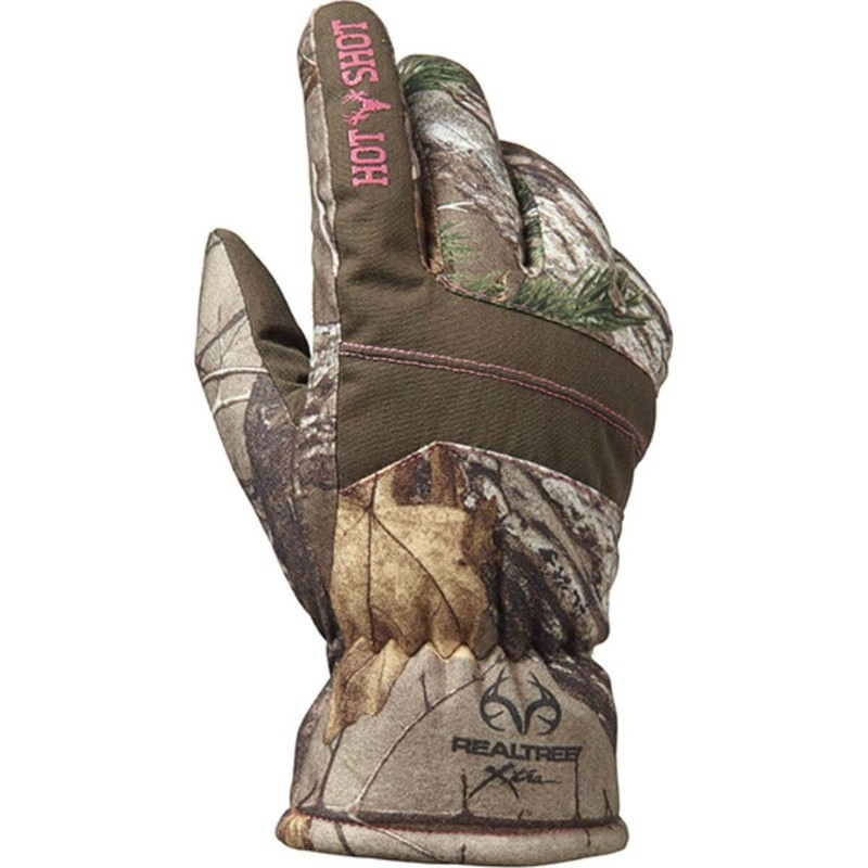 Jacob Ash Hot Shot Girls Defender Gloves - Realtree Xtra in Realtree All Purpose Xtra Color