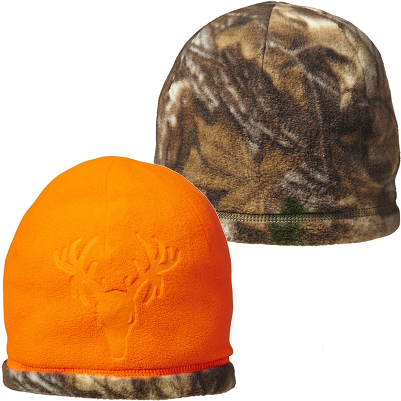 Jacob Ash Youth Reversible Debossed Beanie in Blaze Realtree Color