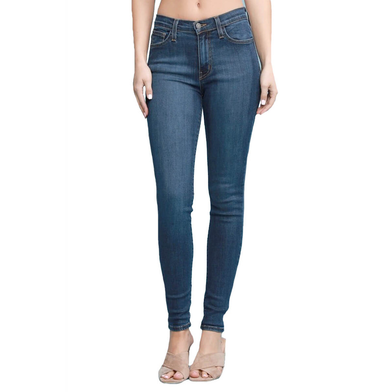 Judy Blue Plus High Waisted Hand Sand Skinny in Dark Color