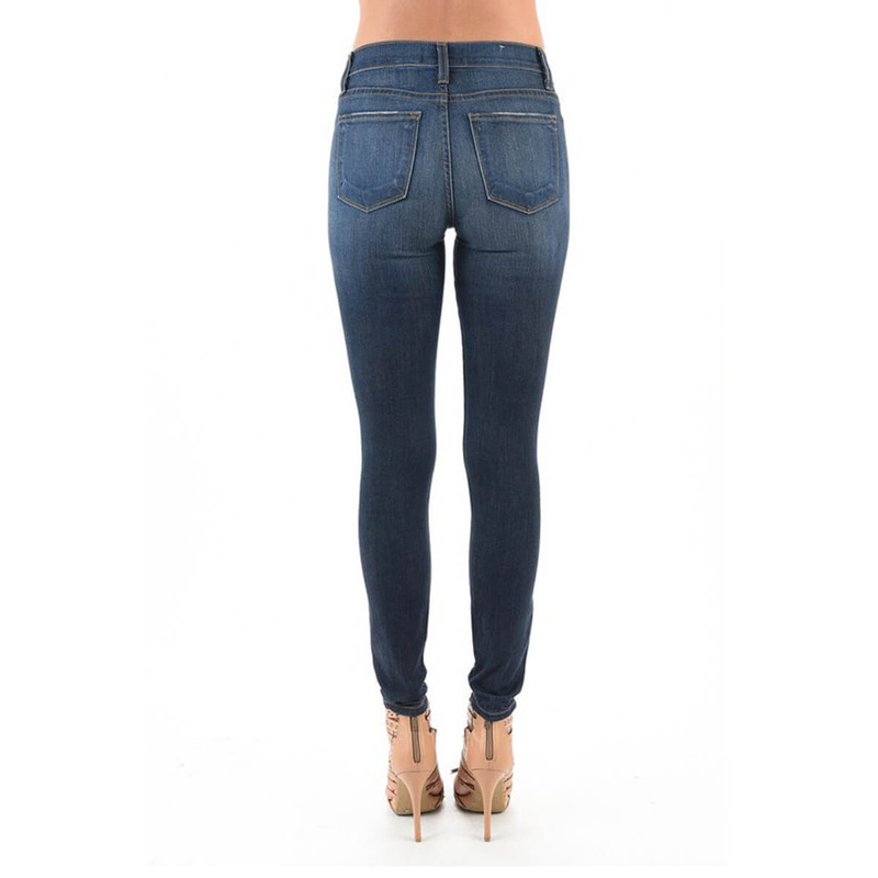 Judy Blue Handsand Skinny Jeans in Dark Wash Color