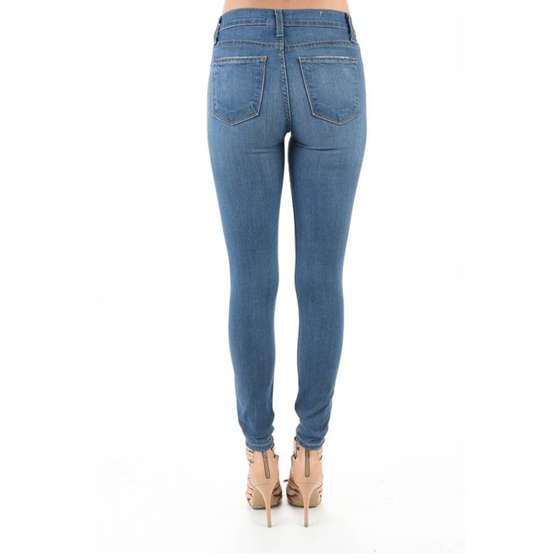 Judy Blue Handsand Skinny Jeans in Medium Wash Color