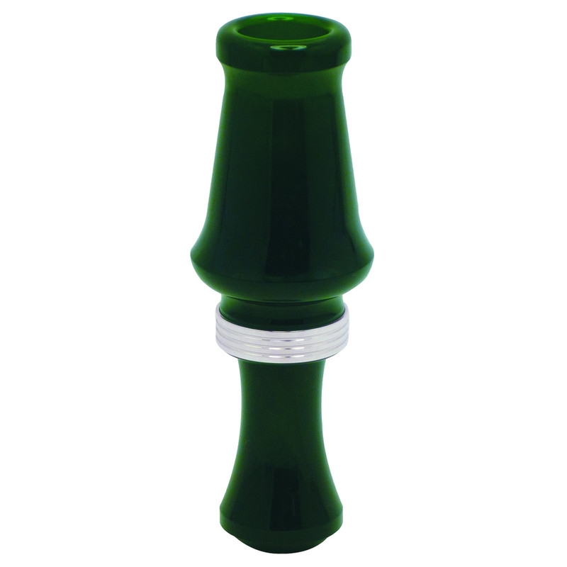 JJ Lares Hybrid Acrylic Single Reed Duck Call in Dark Green Color