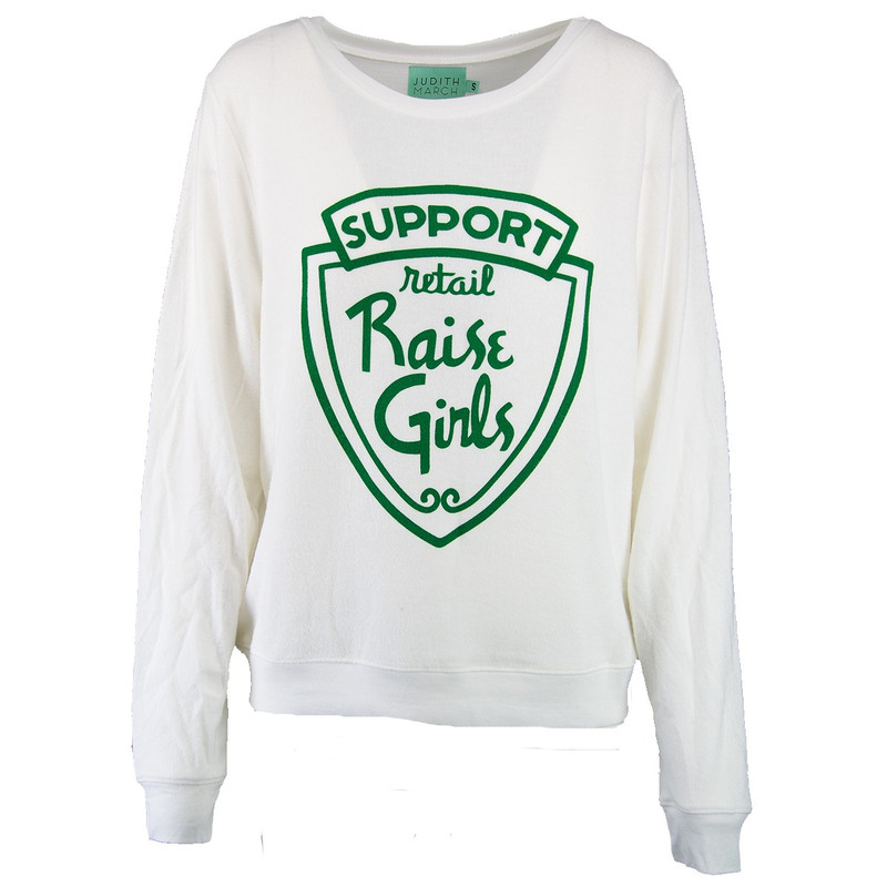 Judith March Support Retail Raise Girls Top in White Color