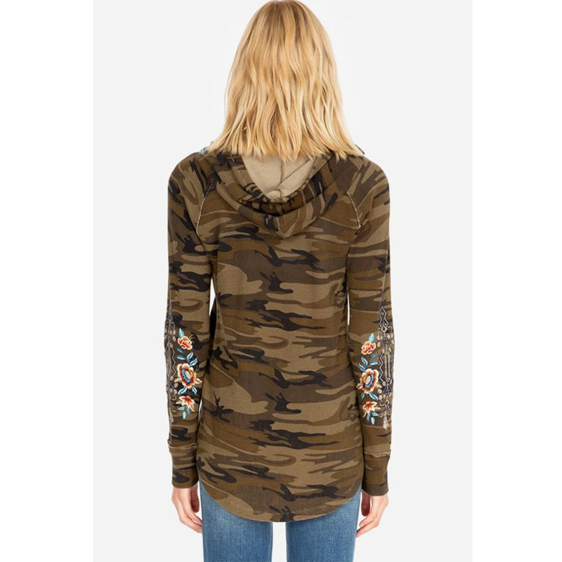 Johnny Was Eleni Hooded Thermal in Camo Color