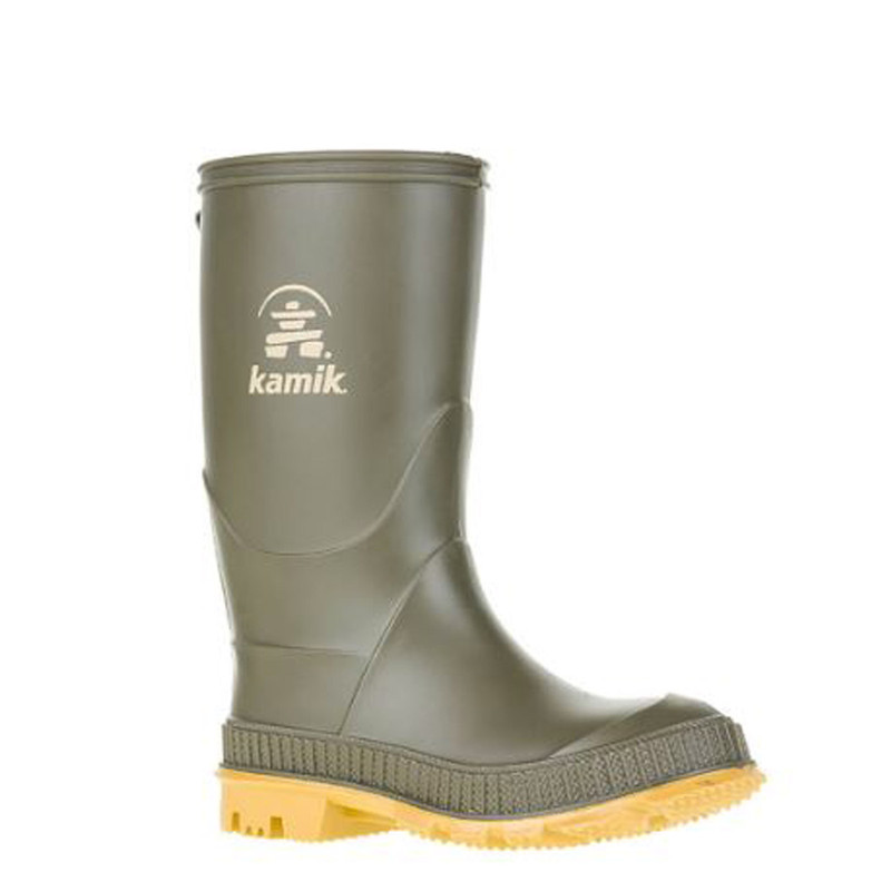 Kamik Youth Stomp Rainboot in Olive Color
