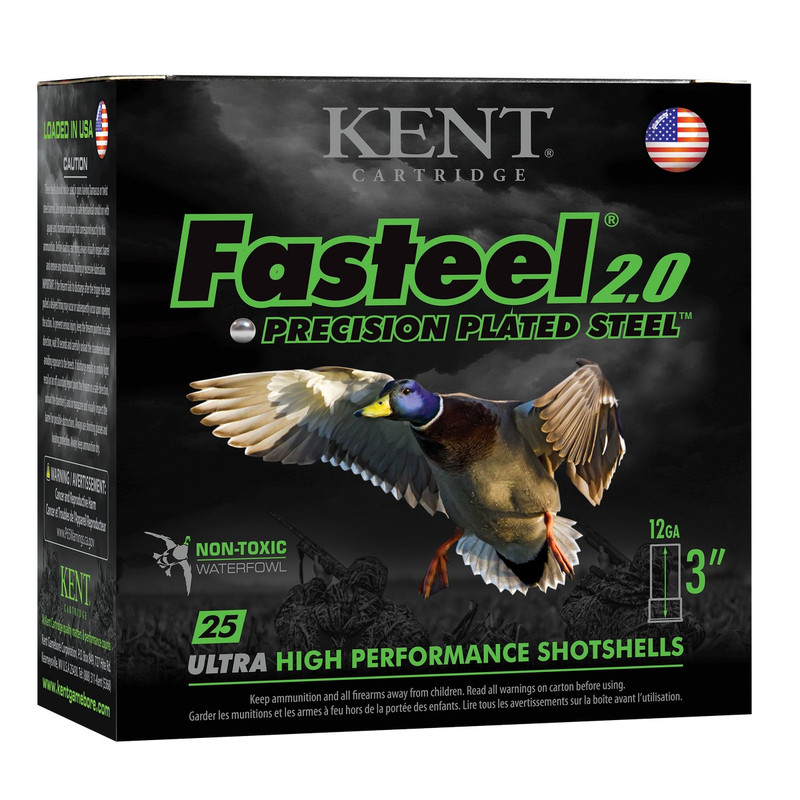 Kent Fasteel 2.0 12 Gauge Waterfolw Ammunition Box 25 Rd