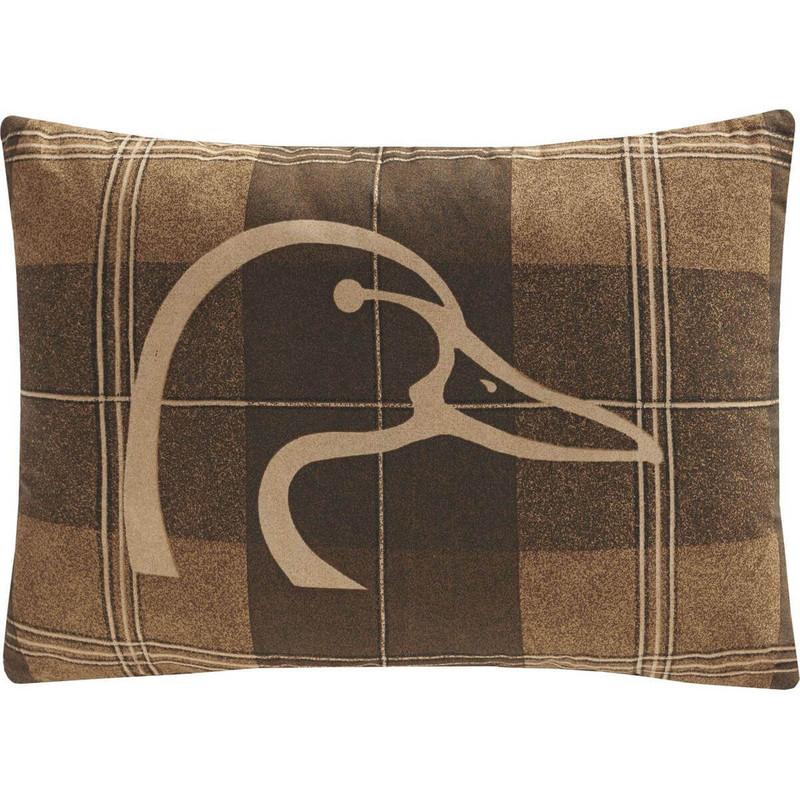 Kimlor Ducks Unlimited Oblong Plaid Pillow
