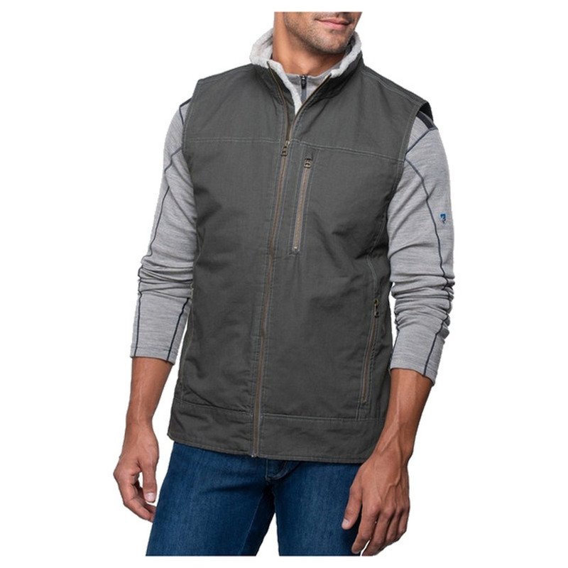 Kuhl Men's Burr Vest Lined in Gunmetal Color