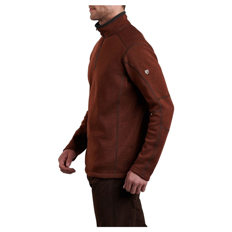 Kuhl Revel 1/4 Zip Pullover in Red Rock Color