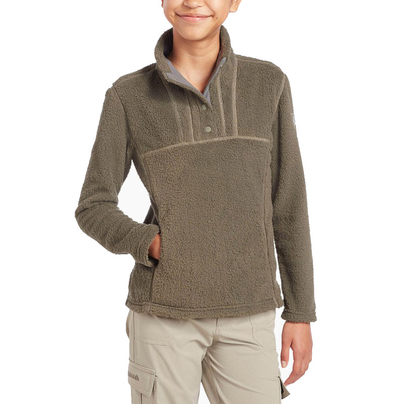 Kuhl Girl's Avalon Snap Fleece in Sage Color