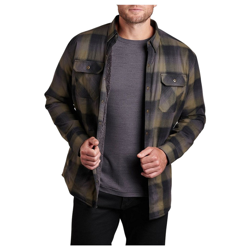 Kuhl Men's Joyrydr Shirt Jacket in Black Forest Color