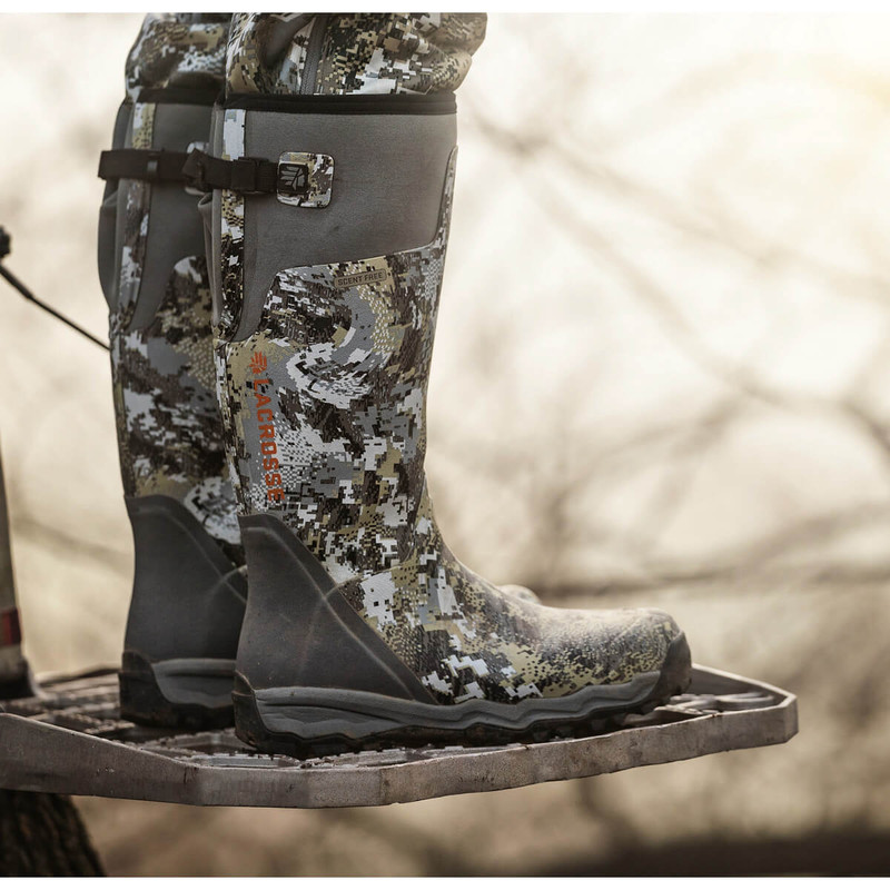Lacrosse Alpha Burly Pro 18 Quot Optifade Elevated Ii Rubber Boots