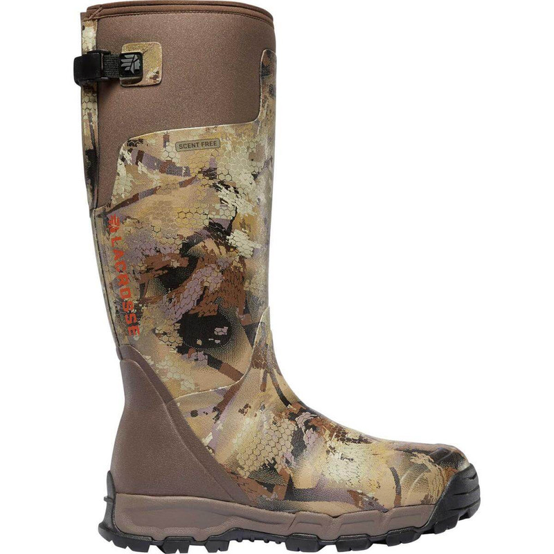 LaCrosse Alpha Burly Pro 1600G Insulated Rubber Boots in Waterfowl Marsh Color