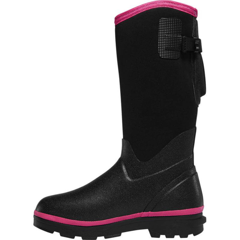 "LaCrosse Womens Alpha Range Boots 12"" BLACK/PINK 5.0MM"