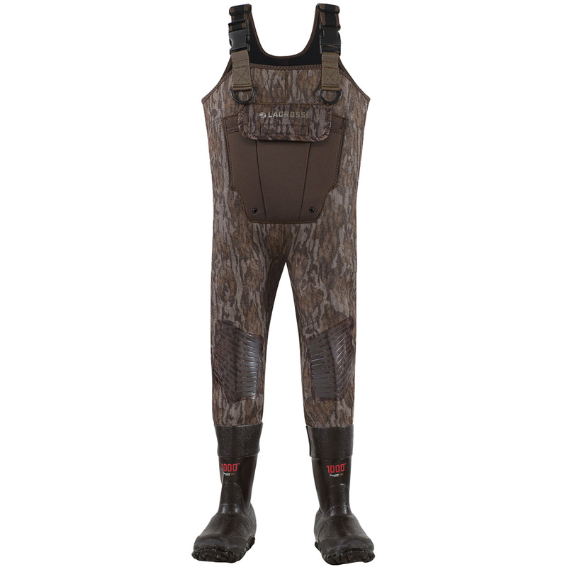 LaCrosse Youth Mallard II Bottomland 1000G Chest Waders in Mossy Oak Bottomland