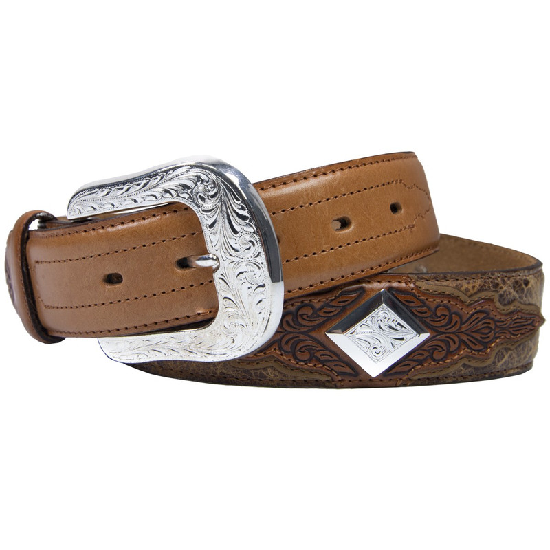 "Leegin 1 1/2"" Silver Road Belt"