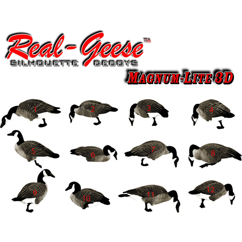 Real Geese Magnum Lite 3D Silhouette Canada Goose Decoys 12 Pack