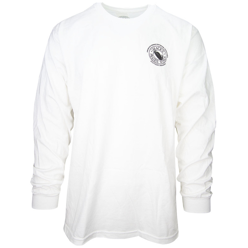 MPW Feather Logo Long Sleeve T-Shirt in White Color