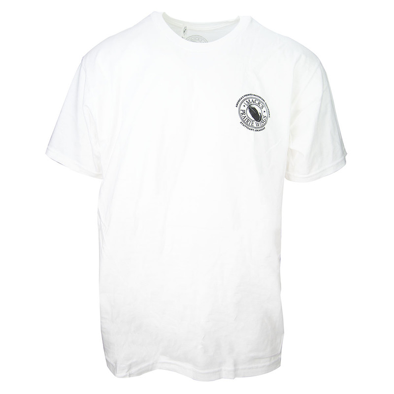 MPW Feather Logo Short Sleeve T-Shirt in White Color
