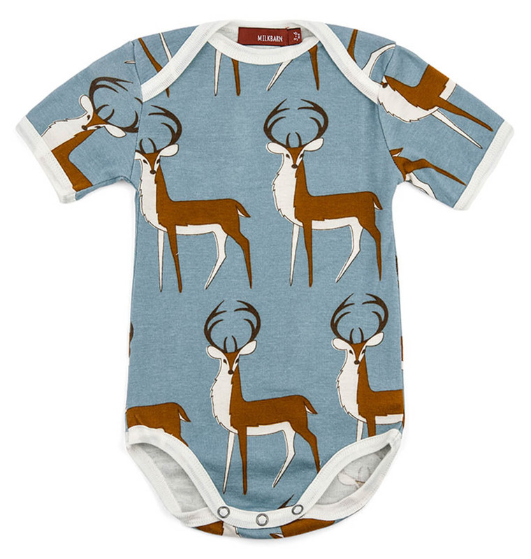 Milkbarn Organic One Piece Blue Buck in Blue Color