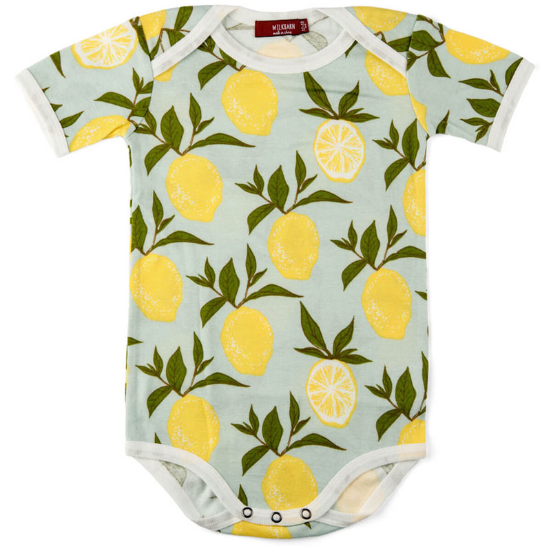 Milkbarn Organic One Piece Lemon in Lemon Color