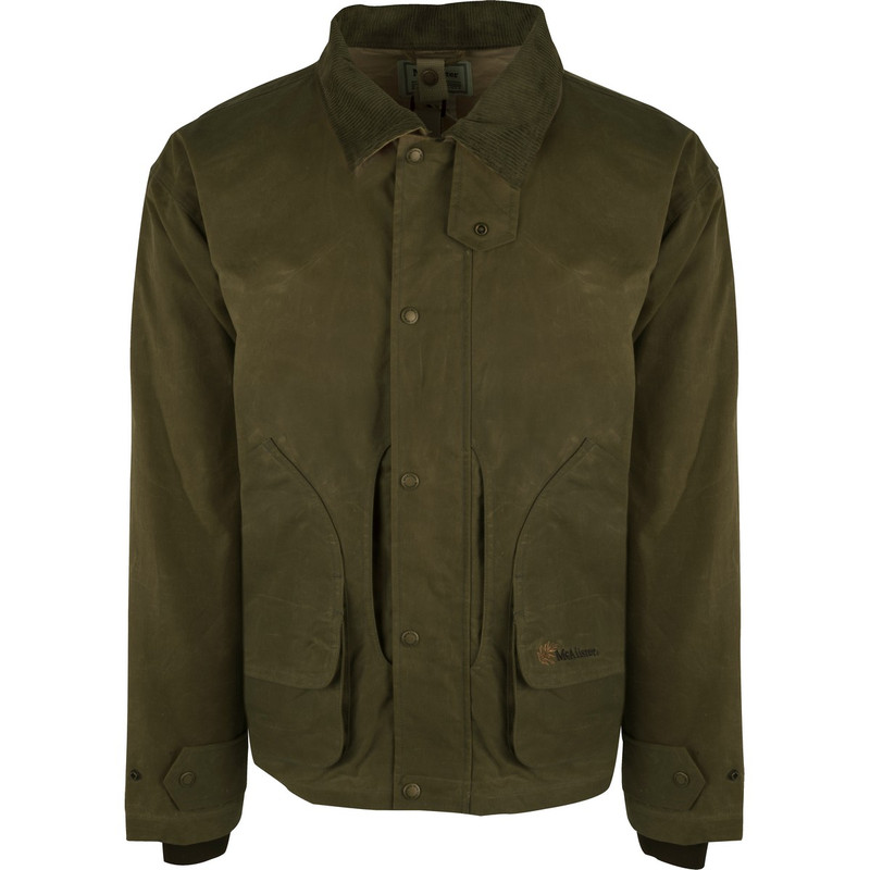McAlister Wax Canvas Field Jacket in Olive Color
