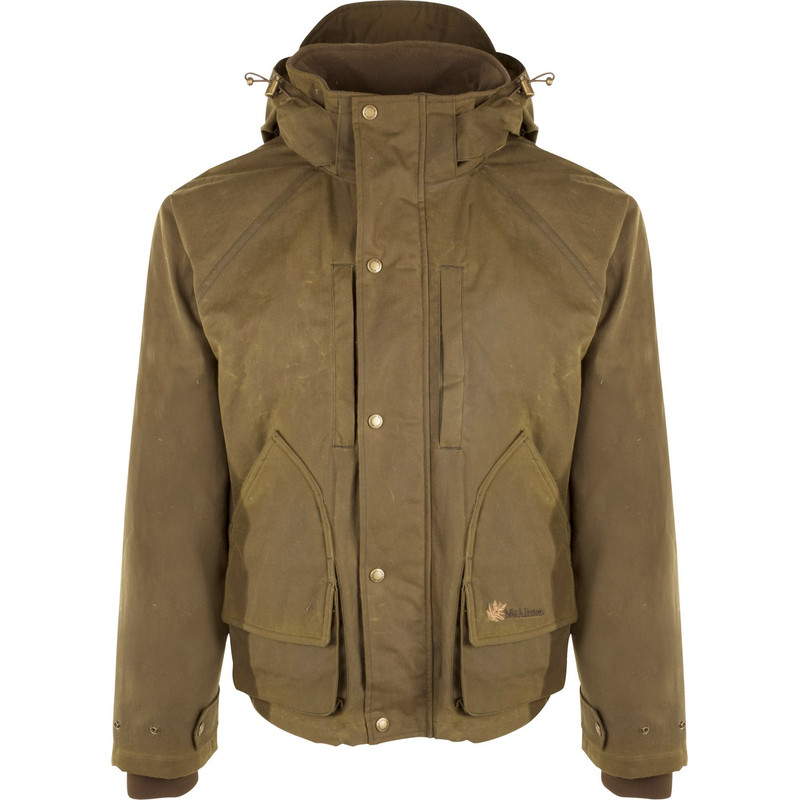 McAlister Wax Canvas Wading Jacket in Tan Color