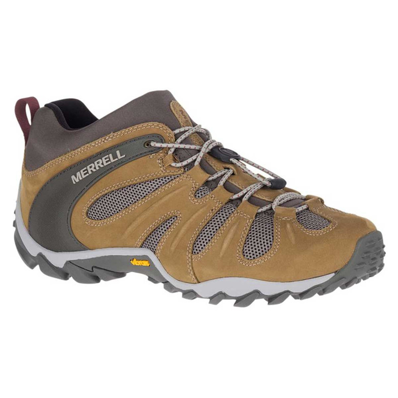 Merrell Chameleon 8 Stretch Waterproof Hiking Shoes in Butternut Color