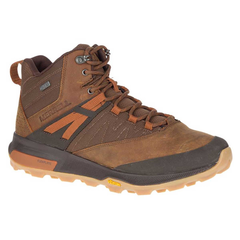 Merrell Zion Mid Waterproof Hiking Boots in Toffee Color