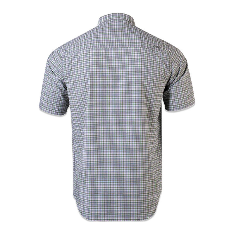 Mountain Khakis Spalding Gingham Short Sleeve Shirt in Olive Color