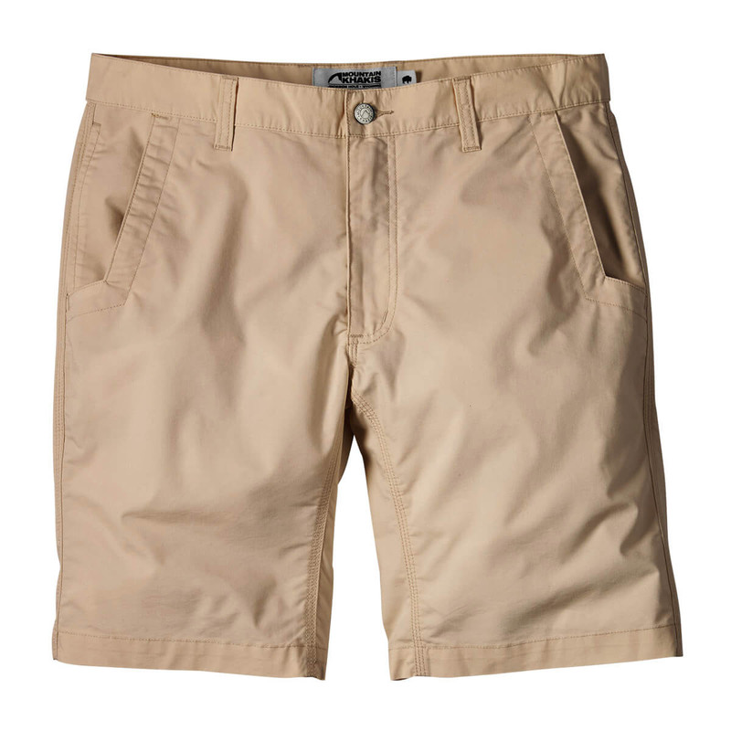 Mountain Khakis Men's Stretch Poplin Shorts - Relaxed Fit in Khaki Color