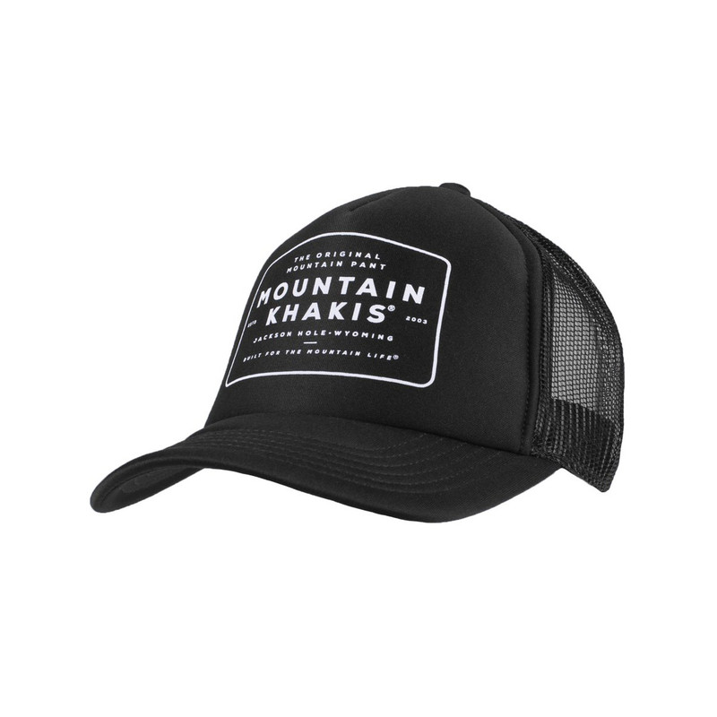 Mountain Khaki OMP Trucker Cap in Black Color