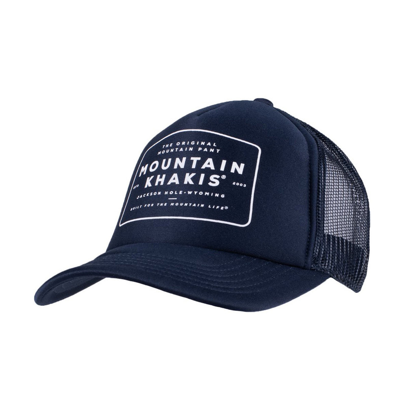 Mountain Khaki OMP Trucker Cap in Navy Color