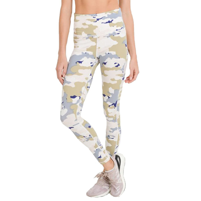 Highwaisted Full Leggings in Pastel Striped Camo Color